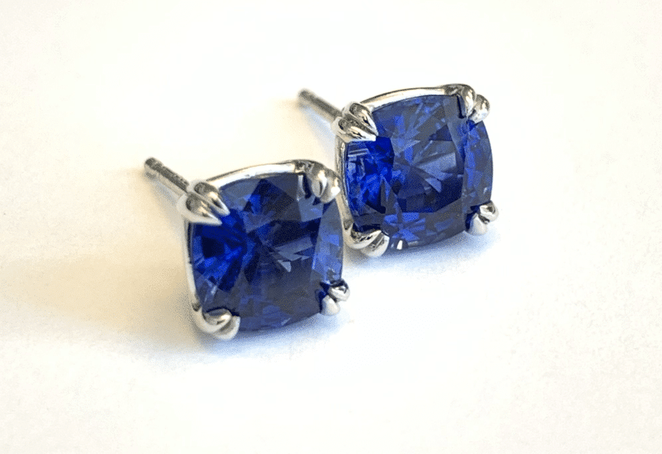 Custom Design Sapphire Earrings