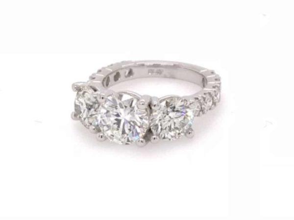 custom design 3 stone diamond ring