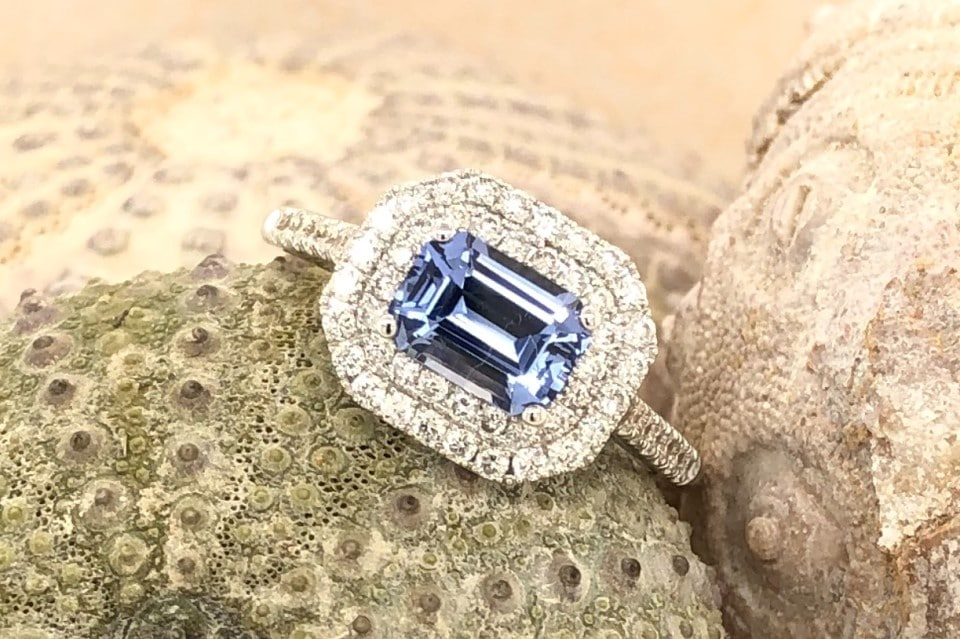 Sapphire and Diamond Ring K. Alan Smith, Jeweler