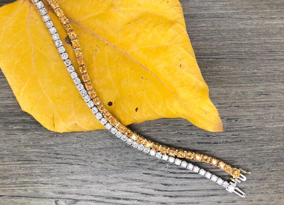 Mandarin Garnet Tennis Bracelet