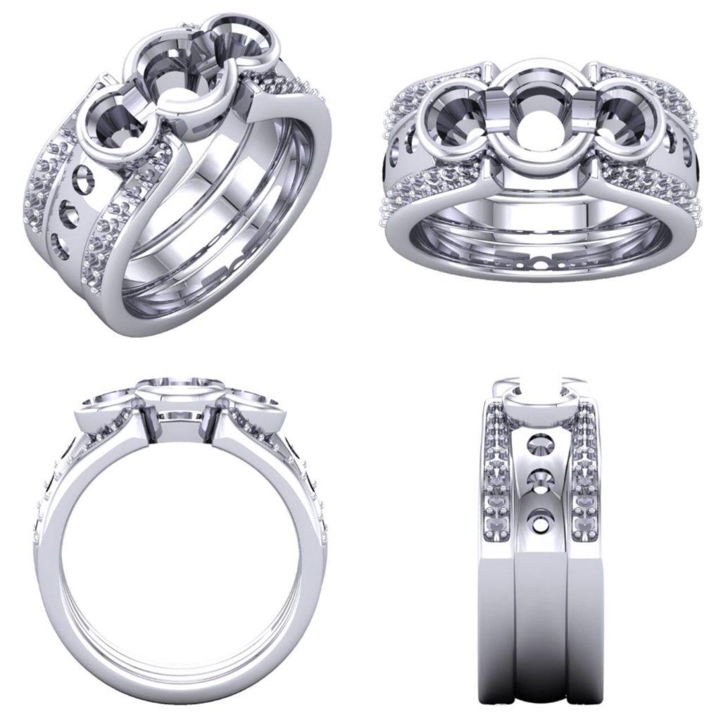 Custom Ring Render K. Alan Smith, Jeweler