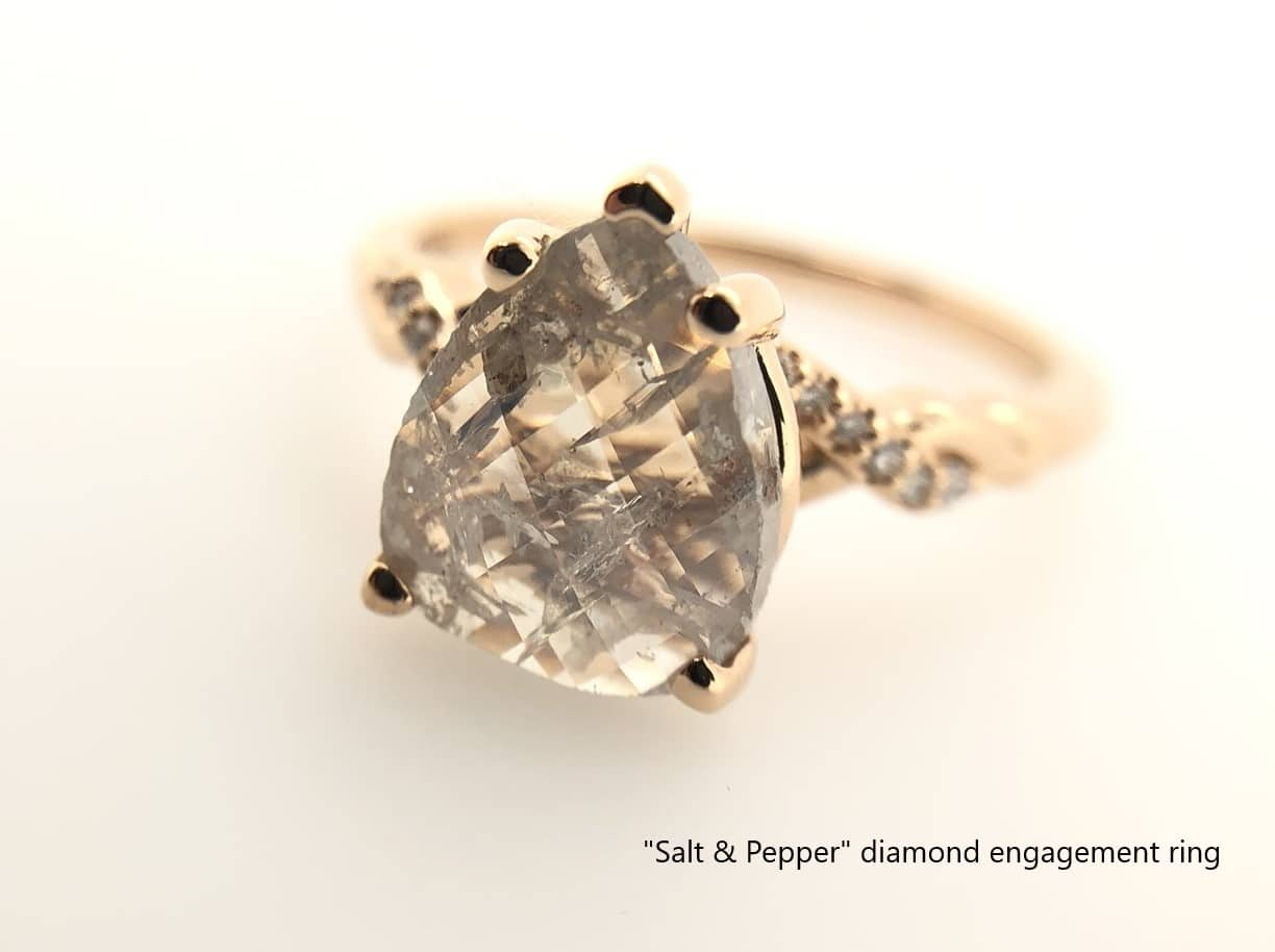 custom designed diamond engagement ring