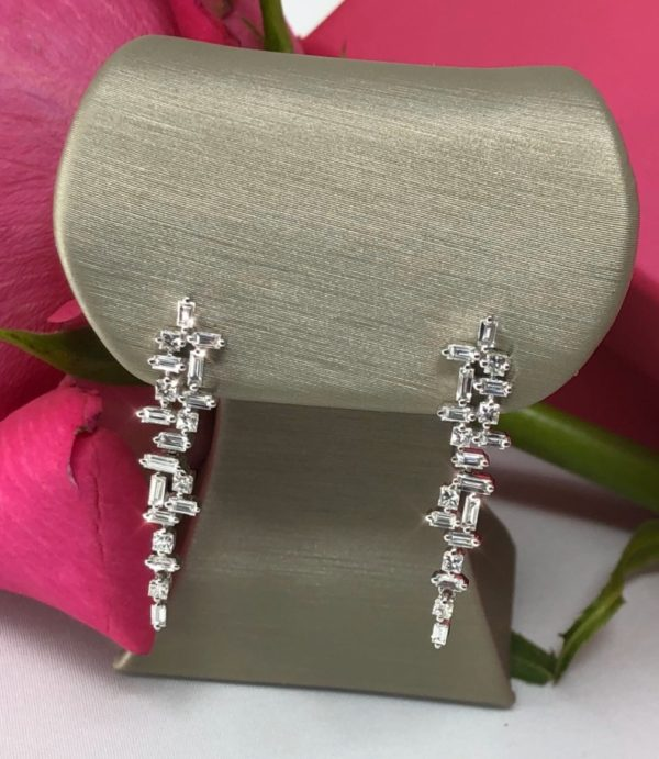 Mosiac Diamond Earrings 2