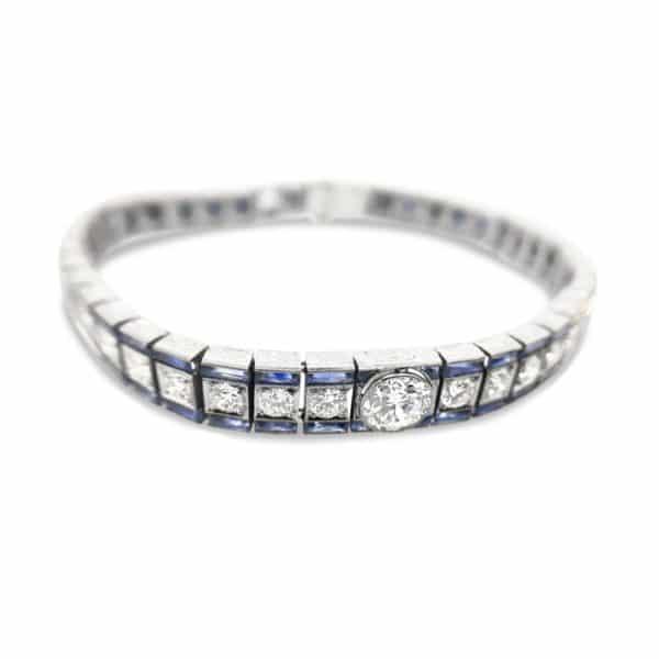 Art Deco Sapphire and Diamnond Bracelet