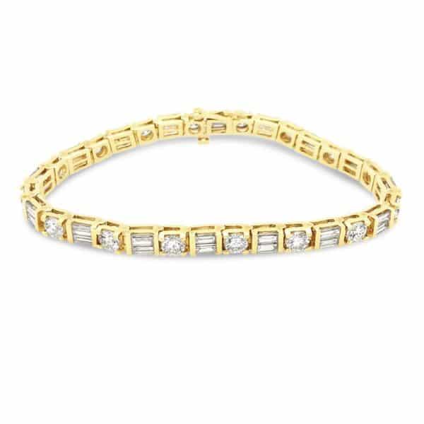 Baguette and Diamond Bracelet Full