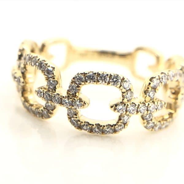 Pave Diamond Chain Ring