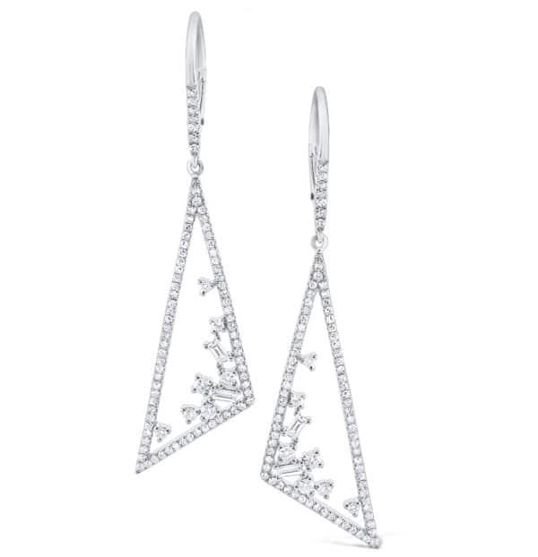 Diamond Triangular Mosaic Earrings