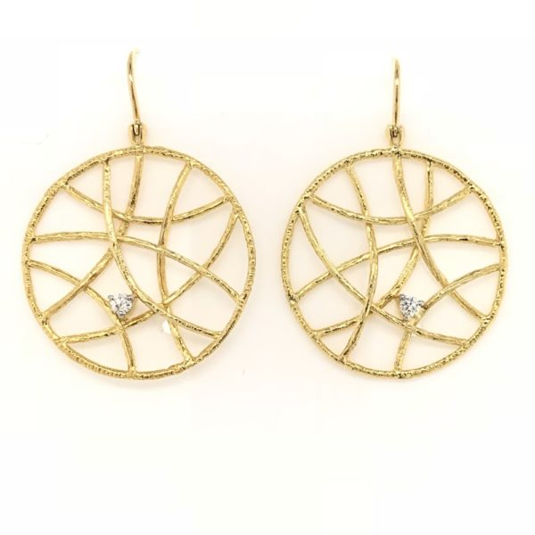Gold Lattice Earrings