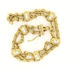 Gold and Diamond Link Bracelet