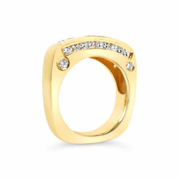 3 stone diamond engagement ring update
