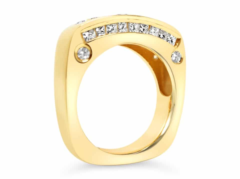 Custom Designed Yellow Gold Ring