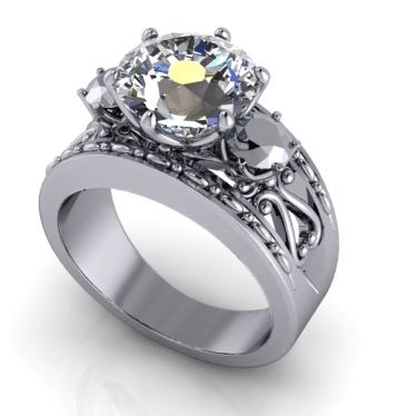 CAD Engagement Ring Rendering