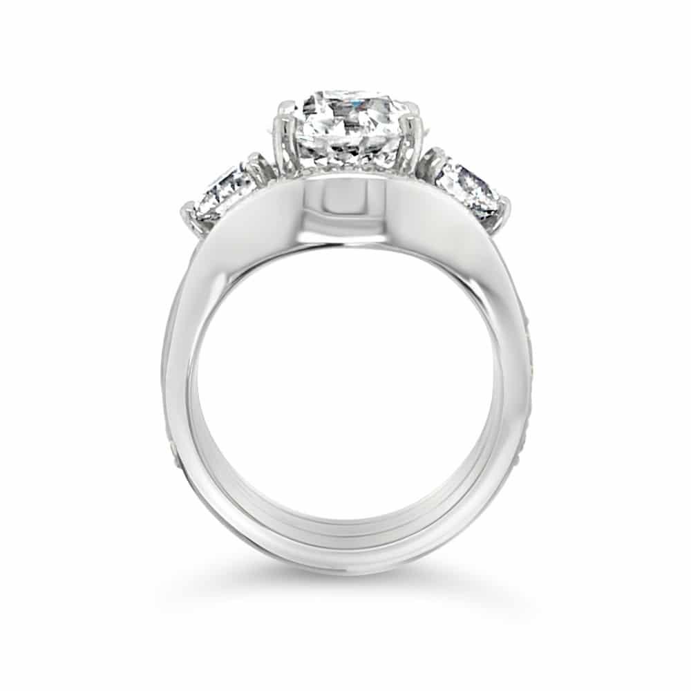Eupopean Cut Engagement Ring Side